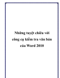 Những tuyệt chiêu với công cụ kiểm tra văn bản của Word 2010