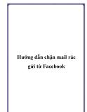 Hướng dẫn chặn mail rác gửi từ Facebook