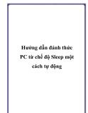 Hướng dẫn đánh thức PC từ chế độ Sleep một cách tự động