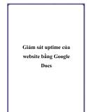 Giám sát uptime của website bằng Google Docs