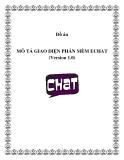 MÔ TẢ GIAO DIỆN PHẦN MỀM ECHAT (Version 1.0)