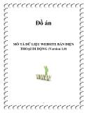 MÔ TẢ DỮ LIỆU WEBSITE BÁN ĐIỆN THOẠI DI ĐỘNG (Version 1.0)