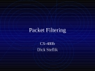 Packet Filtering