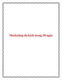 Lập kế hoạch marketing du kích trong 30 ngày