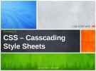 Lập trình web - Chương 3 CSS – Casscading Style Sheets
