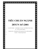 TIÊU CHUẨN NGÀNH 28TCN 167:2001CÁ NƯỚC NGỌT – CÁ BỐ MẸ CÁC LOÀI: TAI TƯỢNG, TRA VÀ BA SA – YÊU CẦU KỸ THUẬT Freshwater fish – Broodstock of Giant gouramy, Ba sa catfish and Ba sa bocourti – Technical