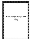 Kinh nghiệm ương Lươn Đồng