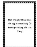 Quy trình kỹ thuât nuôi kết hợp Tu Hài cùng Ốc Hương và Rong câu Chỉ Vàng