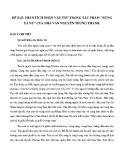 Dàn ý chi tiết đề Phân tích nhân vật Tnú trong tác phẩm Rừng xà nu