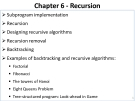 Data Structures and Algorithms - Chapter 6 -Recursion