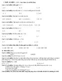Trắc nghiệm toán lớp 6