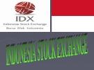Sở giao dịch chứng khoán Indonesia