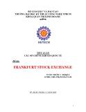 TIỂU LUẬN: FRANKFURT STOCK EXCHANGE
