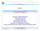 Thiết kế hệ thống điều khiển liên tục - Ts Huỳnh Thái Hoàng