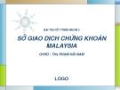 Sở giao dịch chứng khoán Malaysia