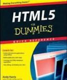 HTML5 FOR DUMmIES‰ Q U I C K R E F E R E N C E