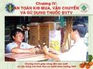 An toàn khi mua vận chuyển thuốc bảo vệ thực vật  ( Nguyễn Văn Thiệu)