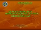 Quản lý thuốc thuốc bảo vệ thực vật trong sản xuất rau an toàn theo hướng  GAT ( Nguyễn Văn Thiệu)