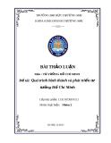 Quá trình hình thành và phát triển tư tưởng Hồ Chí Minh