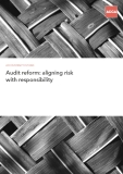 Audit reform: aligning risk    with responsibility