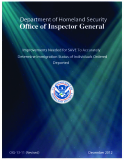 Improvements Needed for SAVE To Accurately   Determine Immigration Status of Individuals Ordered Deported