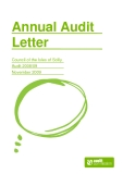 Annual Audit  Letter: Council of the Isles of Scilly   Audit 2008/09