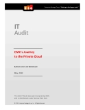 IT Audit: EMC's Journey to the Private Cloud