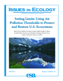 Setting Limits: Using Air Pollution Thresholds To Protect And Restore U.S. Ecosystems