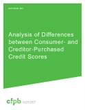 Analysis of Differences  between Consumer- and Creditor-Purchased   Credit Scores