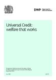 Universal Credit:   welfare that works.