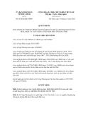 Quyết định số 65/2012/QĐ-UBND