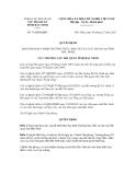 Quyết định số 79/QĐ-HQBN