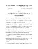 Quyết định số 2051/QĐ-TTg