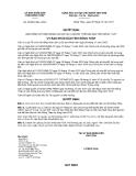 Quyết định số 38/2012/QĐ-UBND