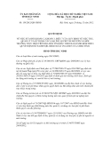 Quyết định số 159/2012/QĐ-UBND