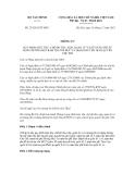 Thông tư  số 233/2012/TT-BTC