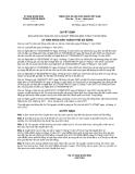 Quyết định số 62/2012/QĐ-UBND