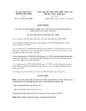 Quyết định số 3315/2012/QĐ-UBND
