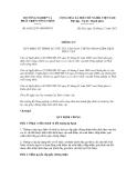 Thông tư số 65/2012/TT-BNNPTNT