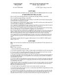 Quyết định số 43/2012/QĐ-UBND