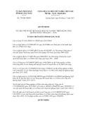 Quyết định số 279/QĐ-UBND