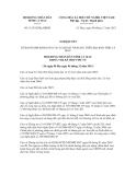 Nghị quyết số 11/2012/NQ-HĐND
