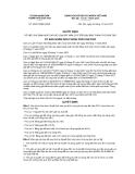 Quyết định số 30/2012/QĐ-UBND