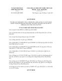 Quyết định số 54/2012/QĐ-UBND