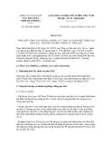 Báo cáo số  1811/BC-HQTH