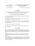 Quyết định số 2720/QĐ-TCHQ
