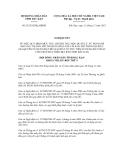 Nghị quyết số 21/2012/NQ-HĐND