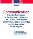 COMMUNICATION FROM THE COMMISSION TO THE EUROPEAN  PARLIAMENT, THE COUNCIL, ECONOMIC AND SOCIAL COMMITTEE AND  THE COMMITTEE OF THE REGIONS