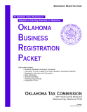OklahOma Business RegistRatiOn Packet: Oklahoma Tax Commission