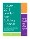 CAMP's  2013  Lender Fair:  Building  Business